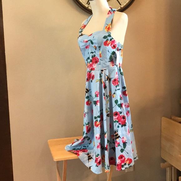 e60b32a5fadf Anni Coco Dresses   Nani Coco Halter Bumblebees Vintage Swing Dress ...